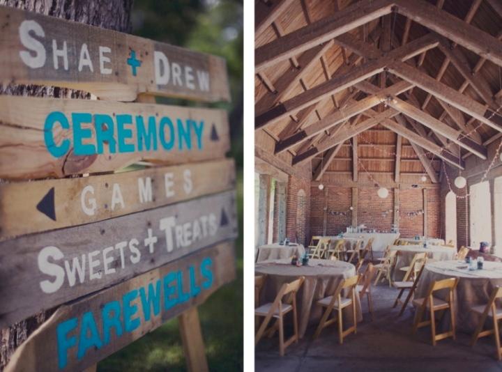 Trinity Park Pavilion Vintage Handmade Wedding