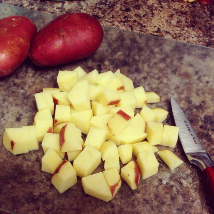 Crispy Potatoes with Smoked Sausage