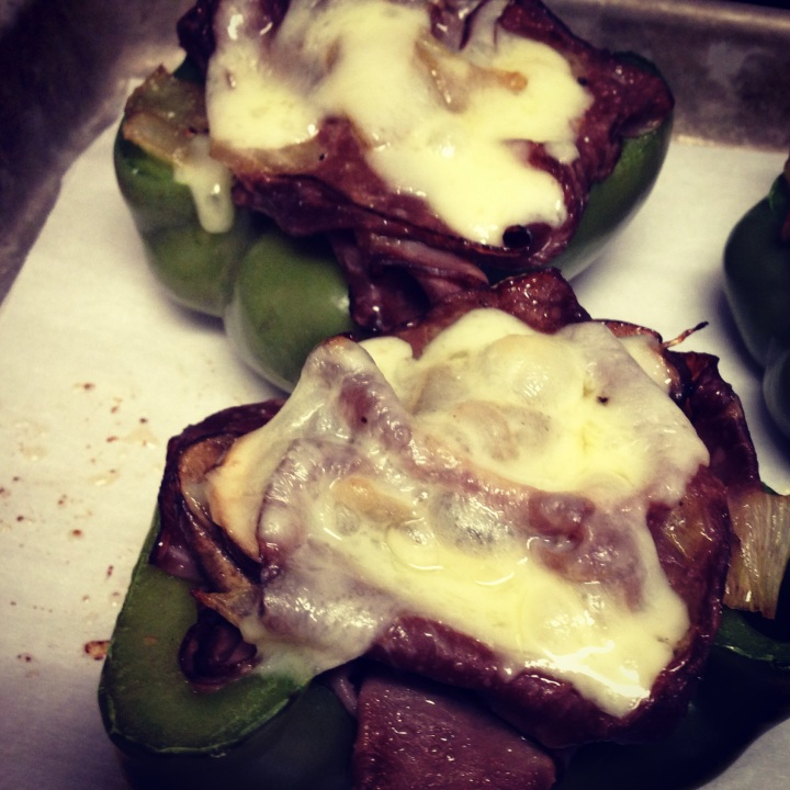 Roast Beef Stuffed Peppers