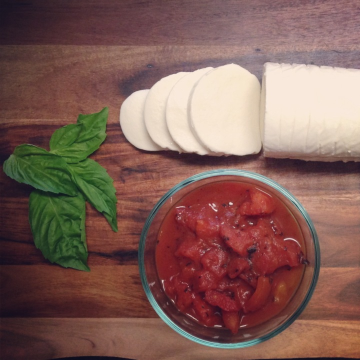 Bruschetta with Fresh Mozzarella