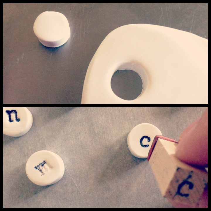 DIY Clay Typewriter Magnets