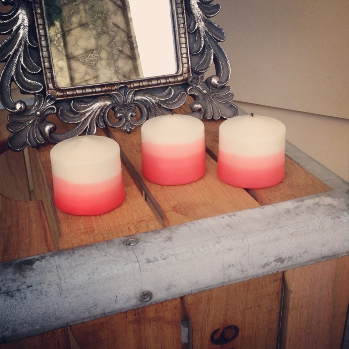 DIY Dip Dyed Ombre Candles