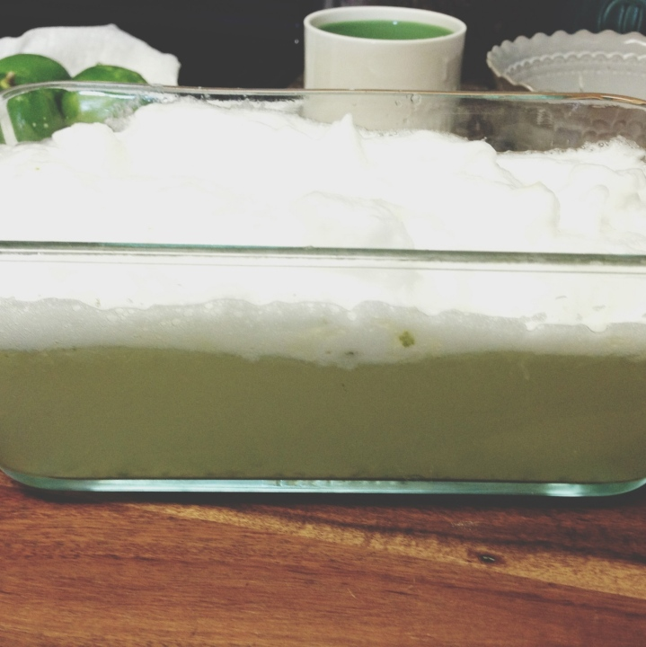Fresh Lime Sorbet (without an ice cream maker)
