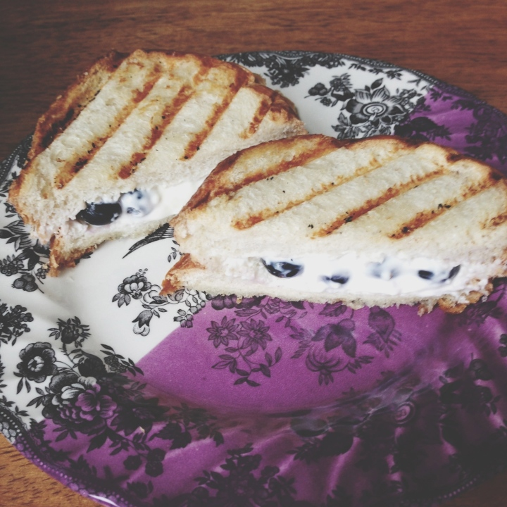 Fancy Grilled Cheese // Blueberry Cream Cheese