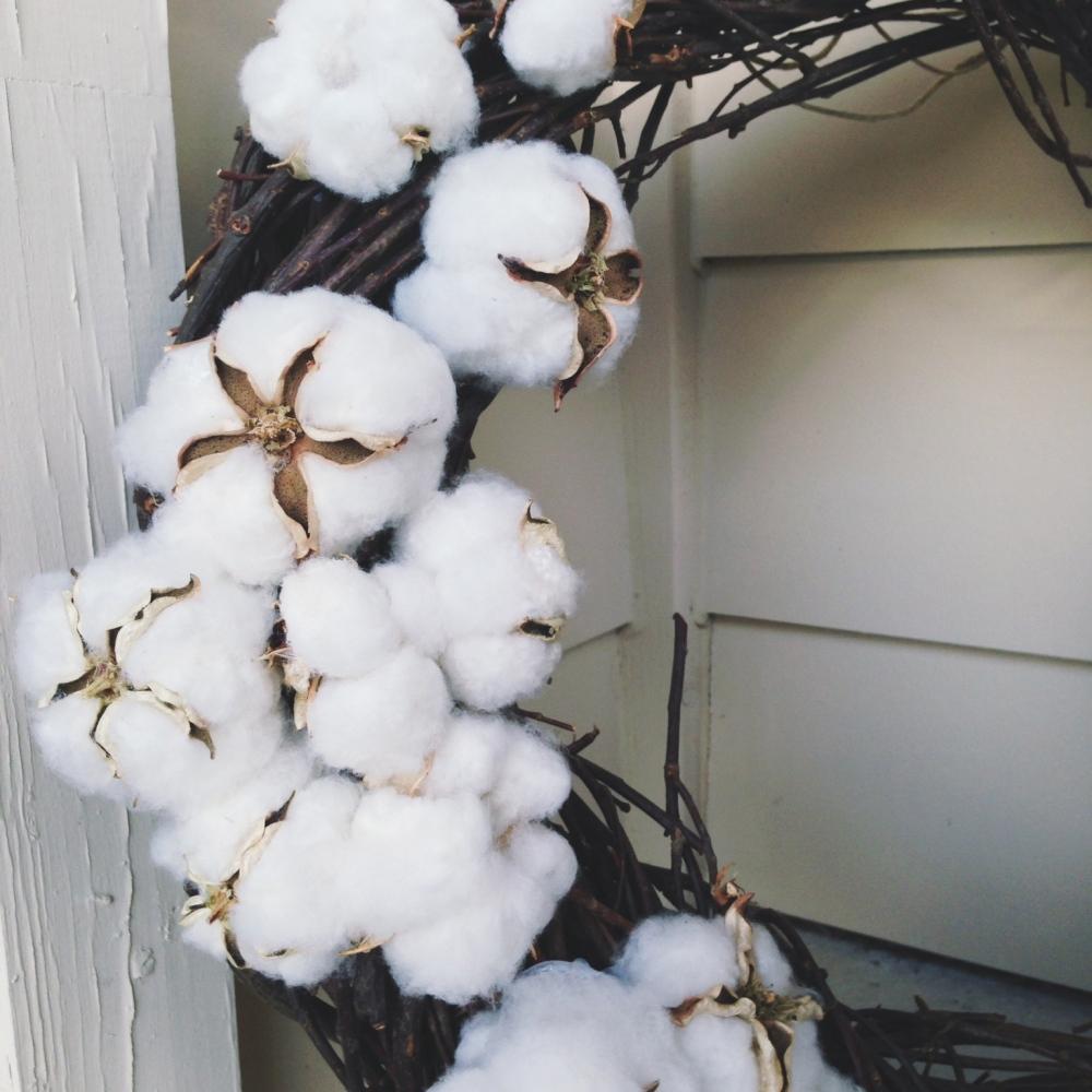 Natural Cotton Wreath
