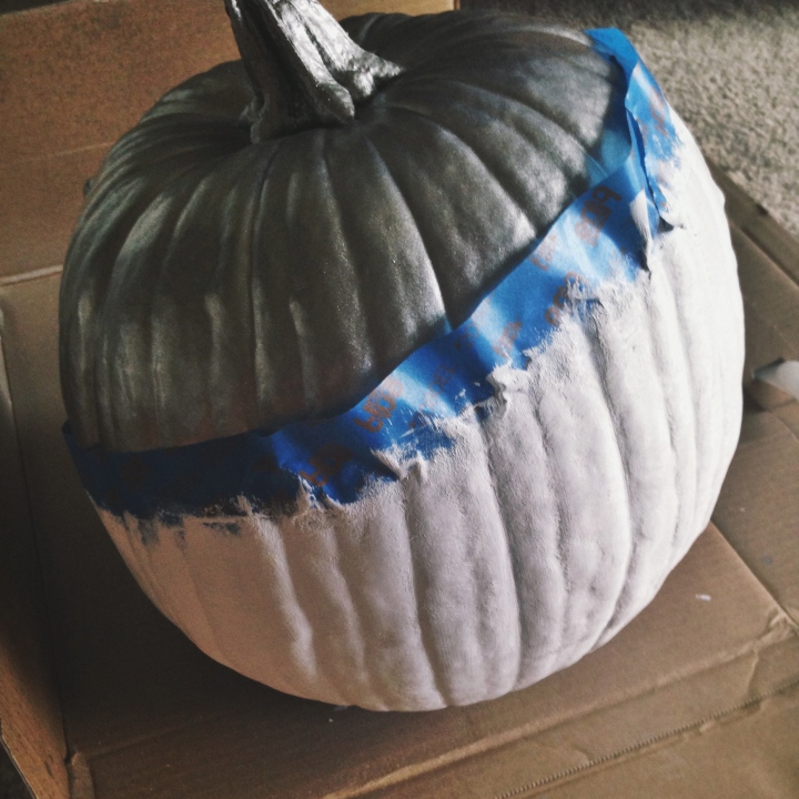 Modern Paint Dipped Pumpkin