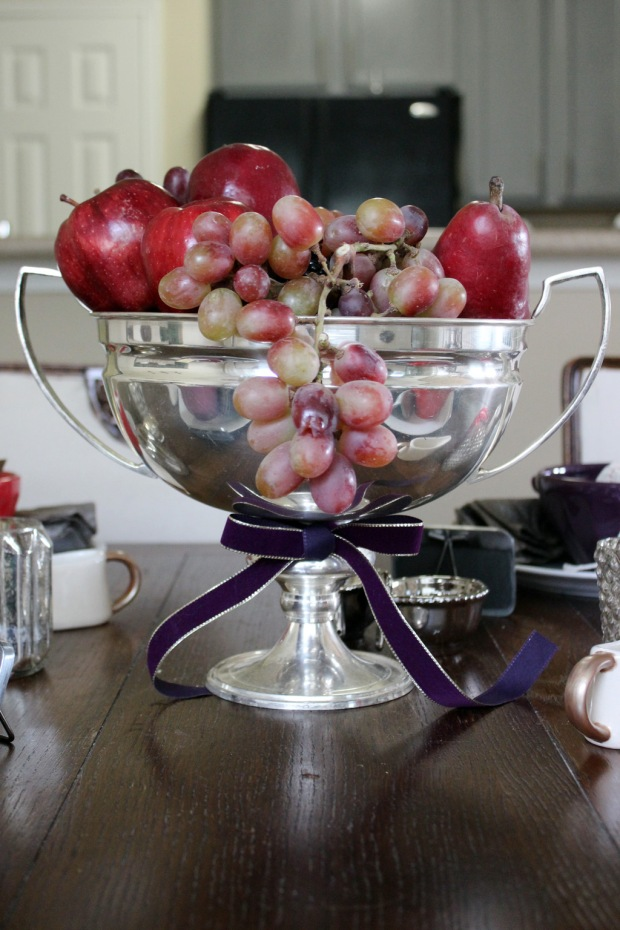 Plum and Burgundy Centerpiece