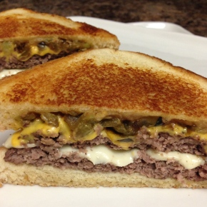 Green Chile Double Cheeseburger