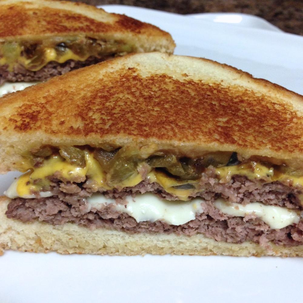 Green Chile Double Cheeseburger (Whataburger copycat)