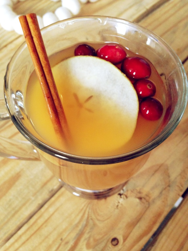 Apple Cider with Cranberries and Pears