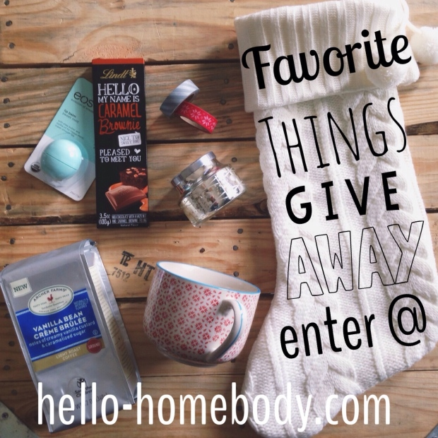 Favorite Things Giveaway @ hello-homebody.com