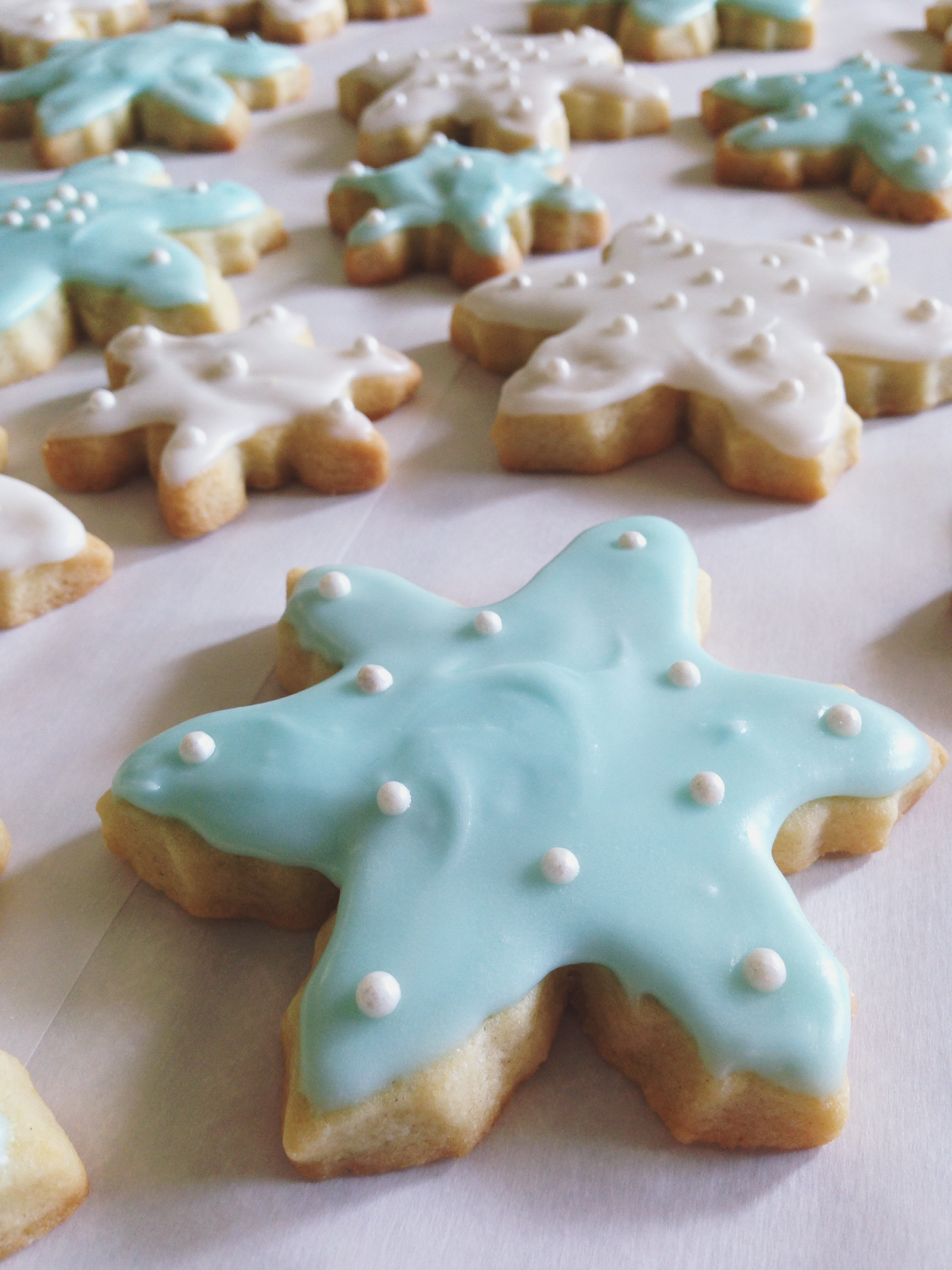 Old fashioned frosted sugar cookies