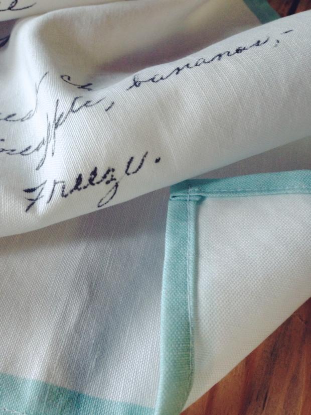 DIY Vintage Recipe Tea Towels
