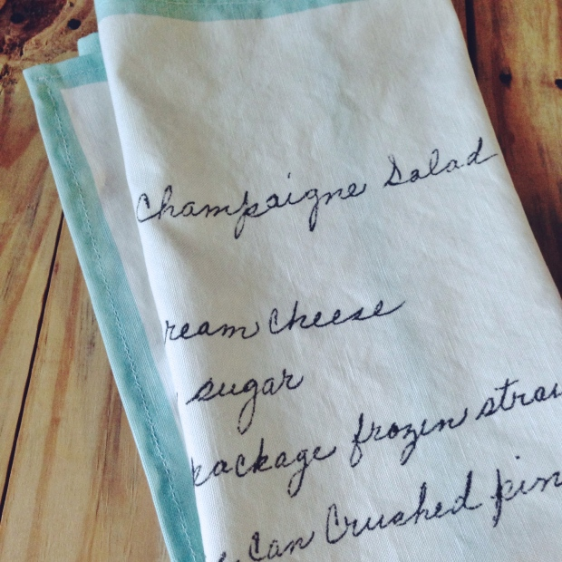 DIY Vintage Recipe Tea Towels