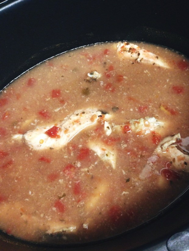 Slow Cooker Creamy Chicken Enchilada Soup
