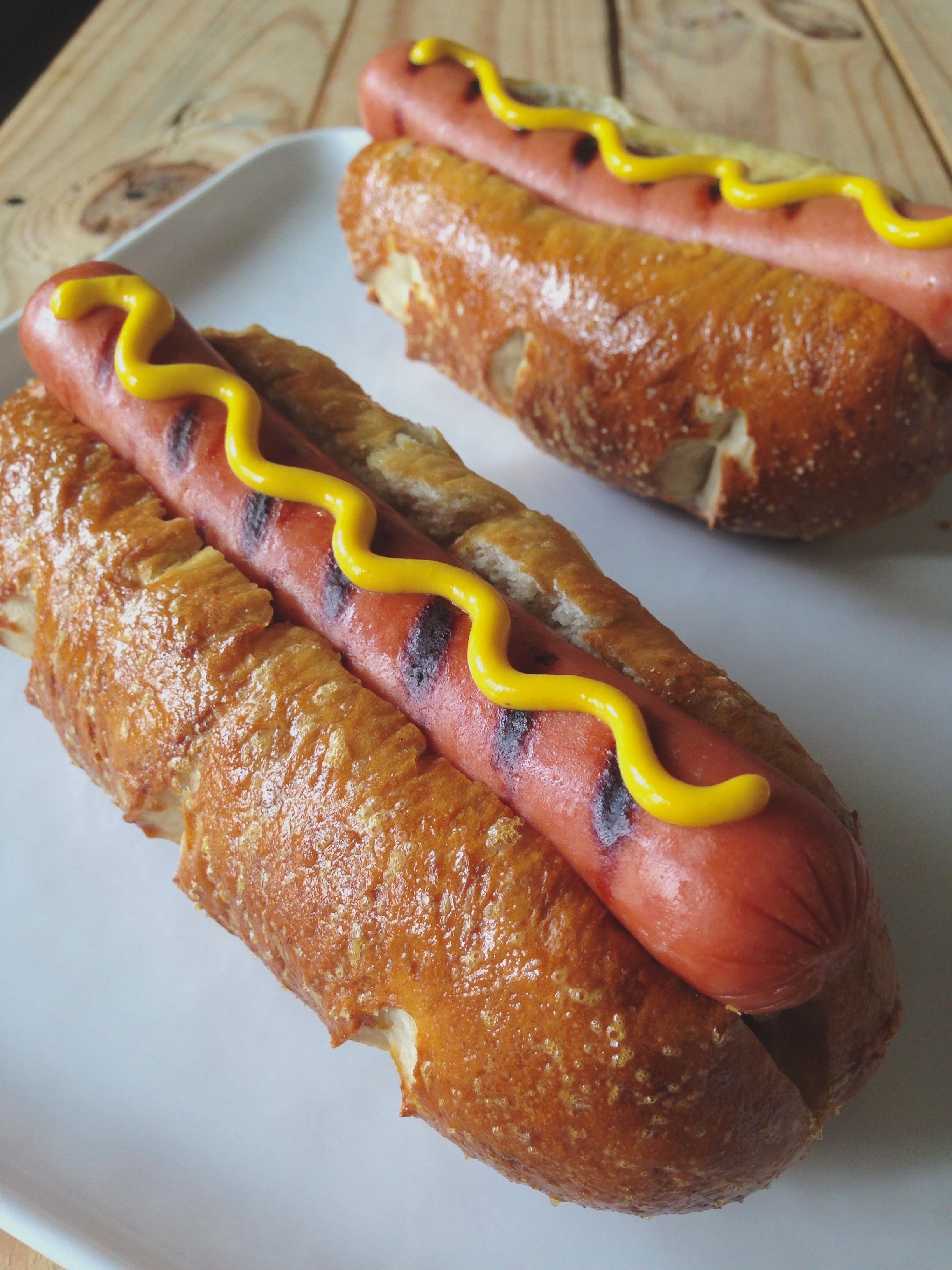 Easy Pretzel Hot Dog Buns 8 – 10 buns