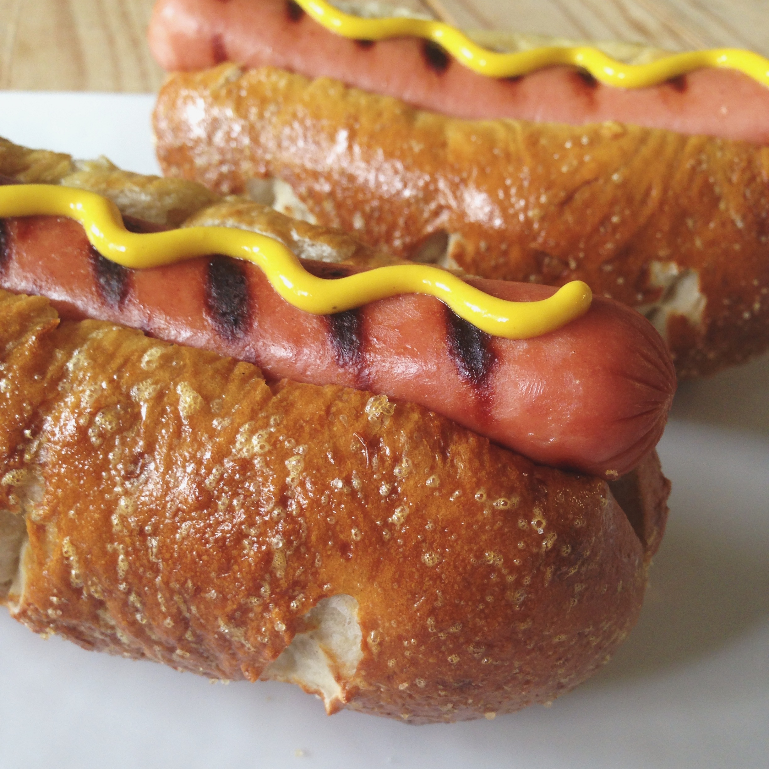 Easy Pretzel Hot Dog Buns | Hello Homebody