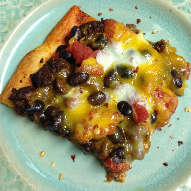 Crescent Roll Taco Pizza