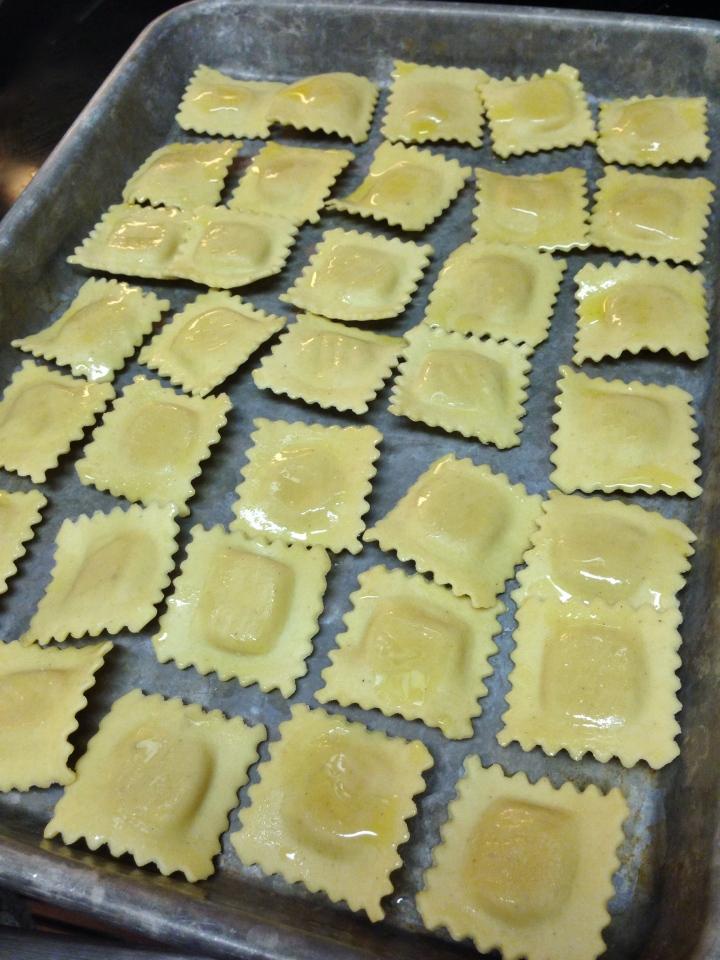 Simple Toasted Cheese Ravioli