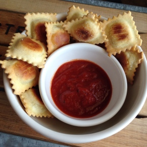 Simple Toasted Cheese Ravioli