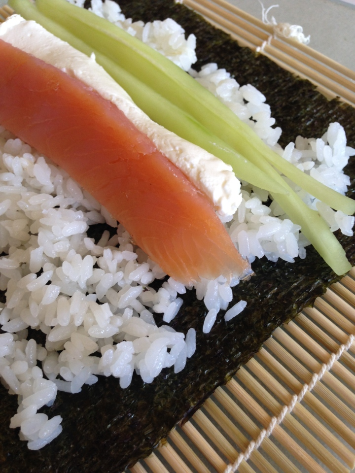 Smoked Salmon Philadelphia Rolls | a beginners guide to making sushi
