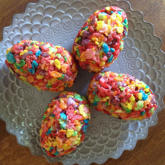 stick) butter 4 cups mini marshmallows 5 cups Fruity Pebbles rice ...