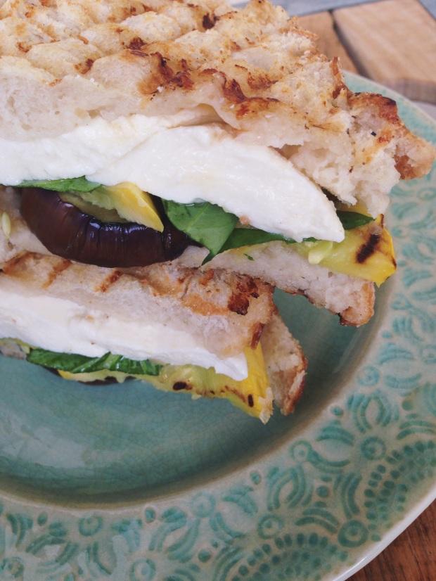 Grilled Eggplant and Squash Panini with Fresh Mozzarella | Hello ...