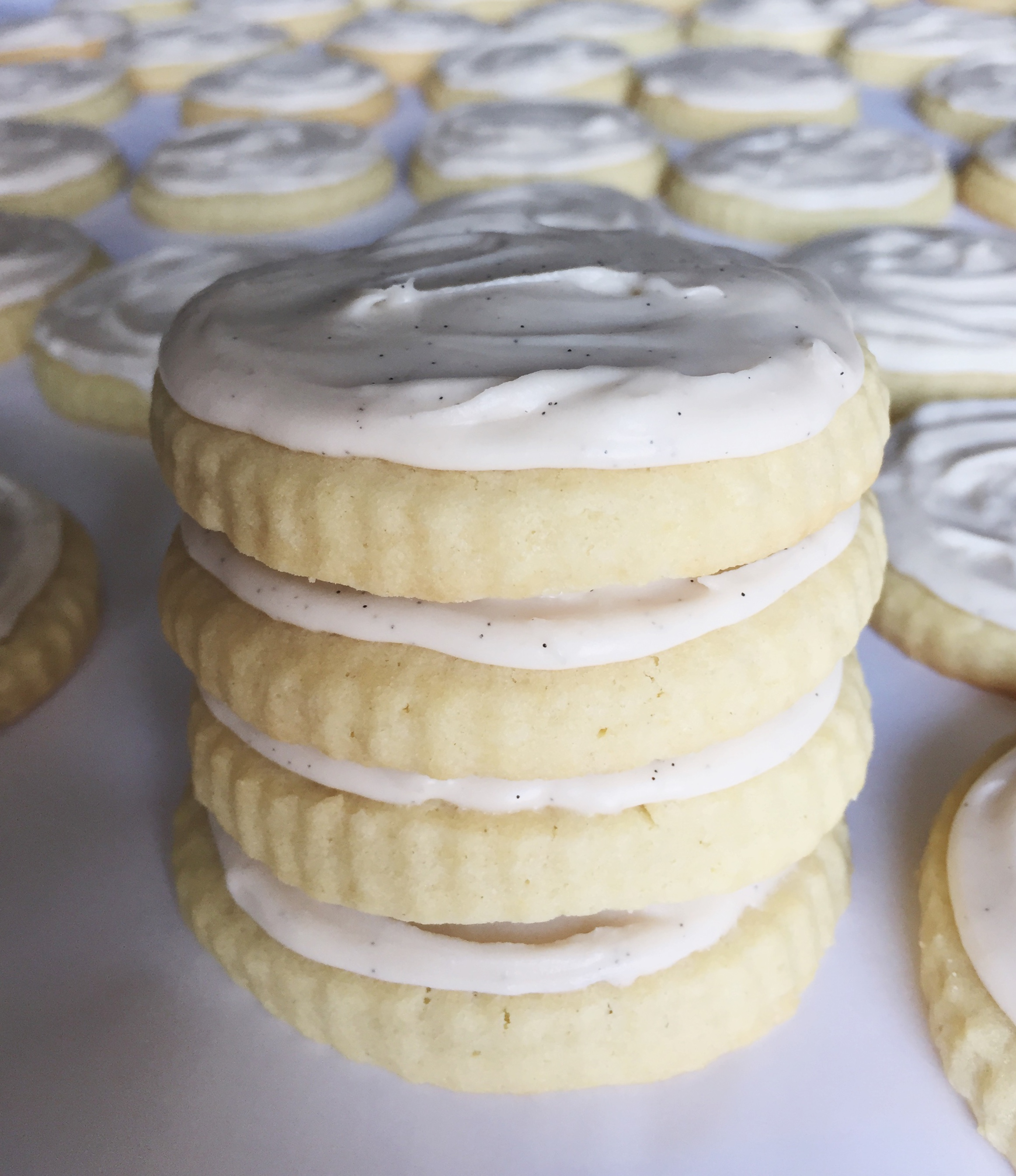 Vanilla Bean Buttercream Sugar Cookie Icing Recipe